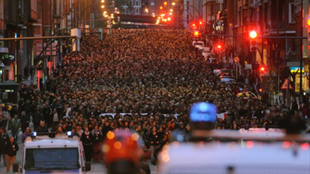 Manifestación en Bilbao de apoyo a los presos de ETA