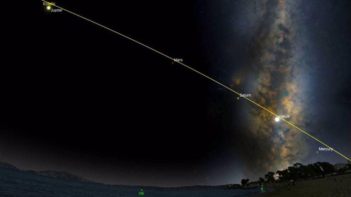 Cinco planetas se alinean por primera vez en 10 años