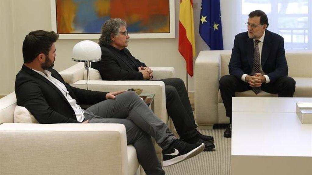 Rajoy se reúne con los líderes de ERC