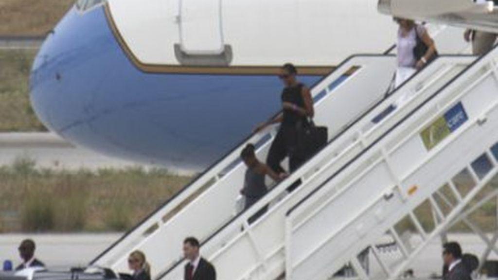 Michelle y Sasha ya están en Málaga
