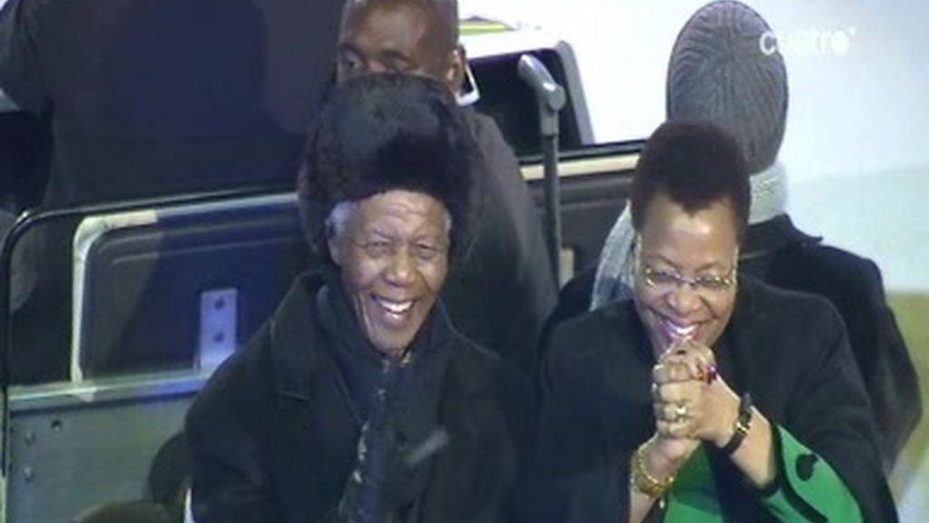 Vuelta de honor de Nelson Mandela