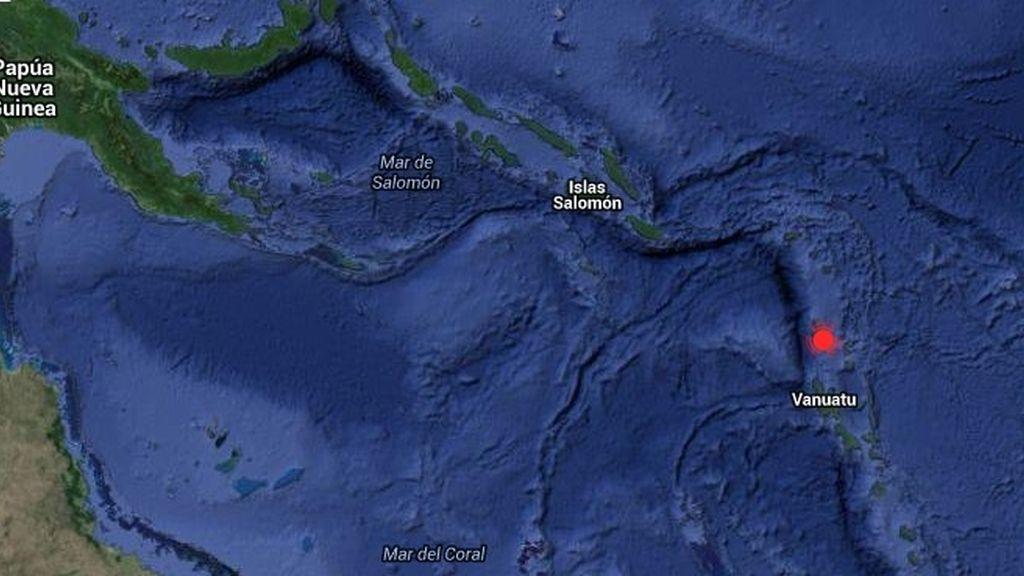Un seísmo de 7,2 activa una alerta por posible tsunami en las costas de Vanuatu