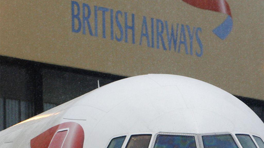 Un avión de la compañía británica, British Airways