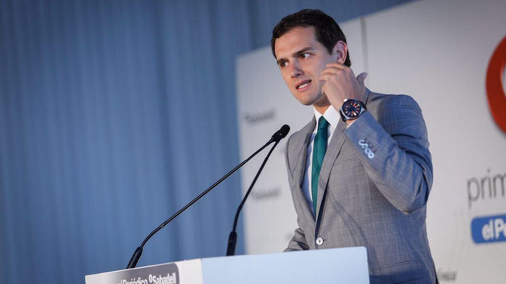 Albert Rivera interviene en una conferencia organizada por el Periódico de Cataluña