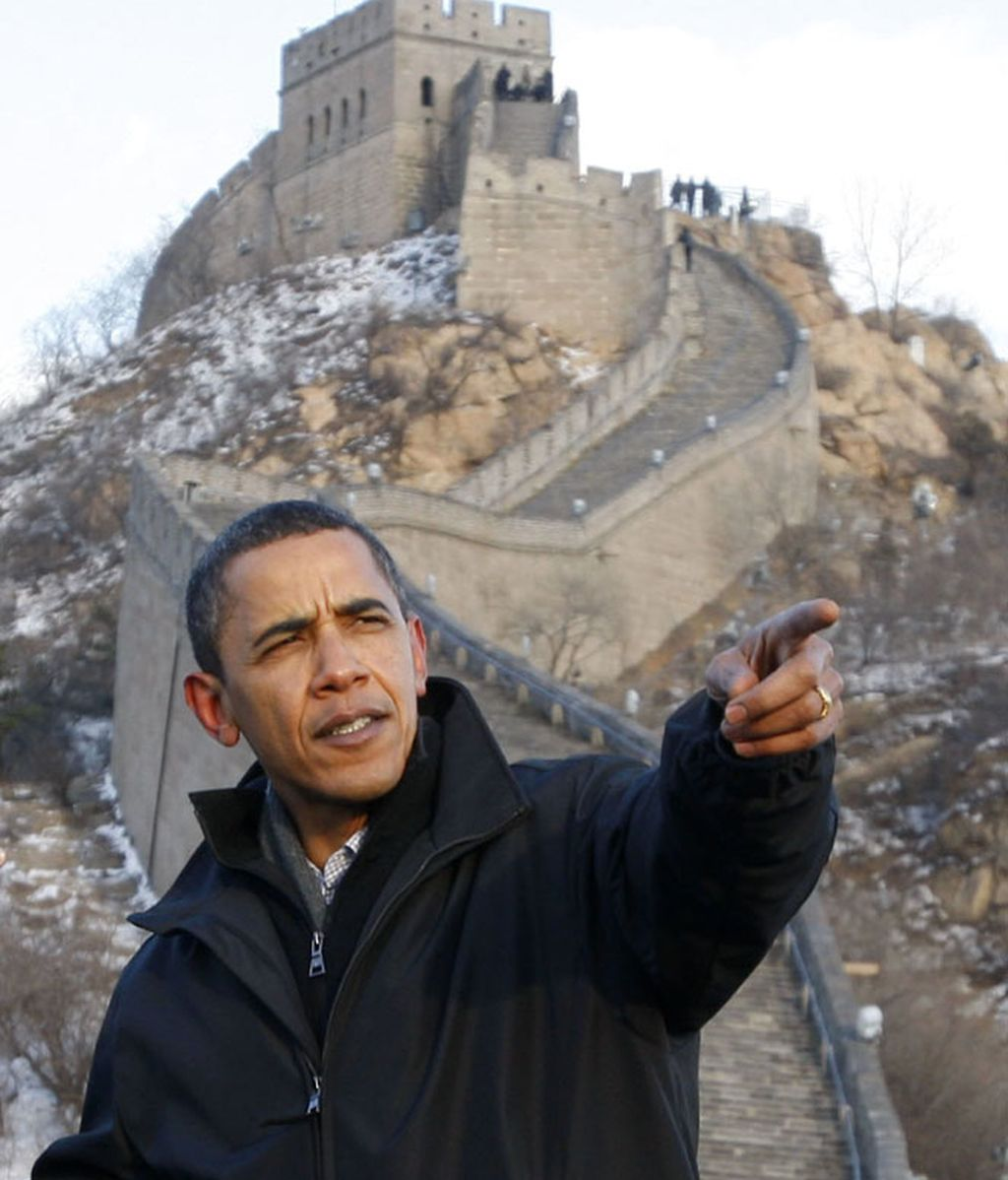 Obama en la Gran Muralla
