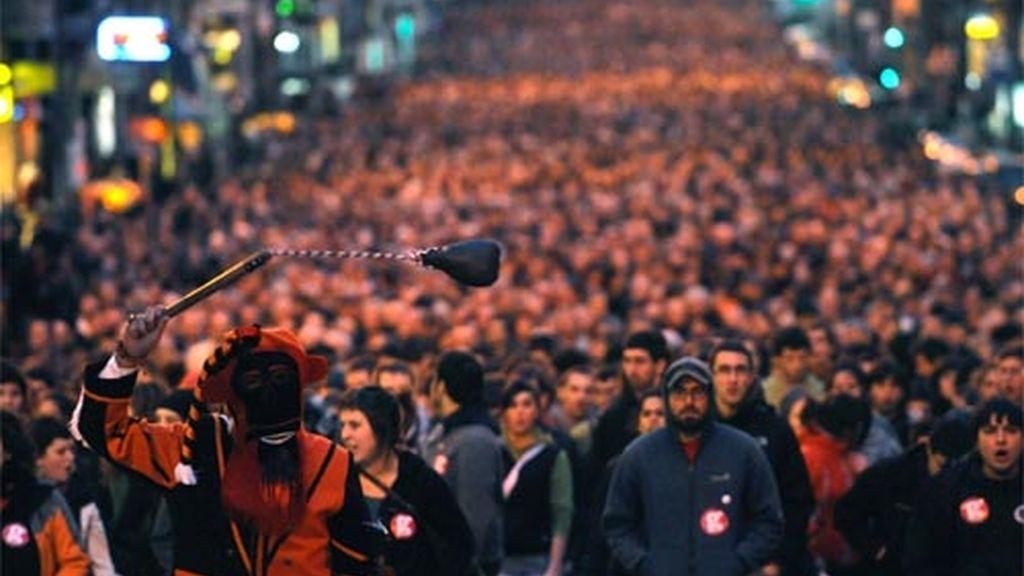 Manifestación contra las detencines de Segi en Bilbao