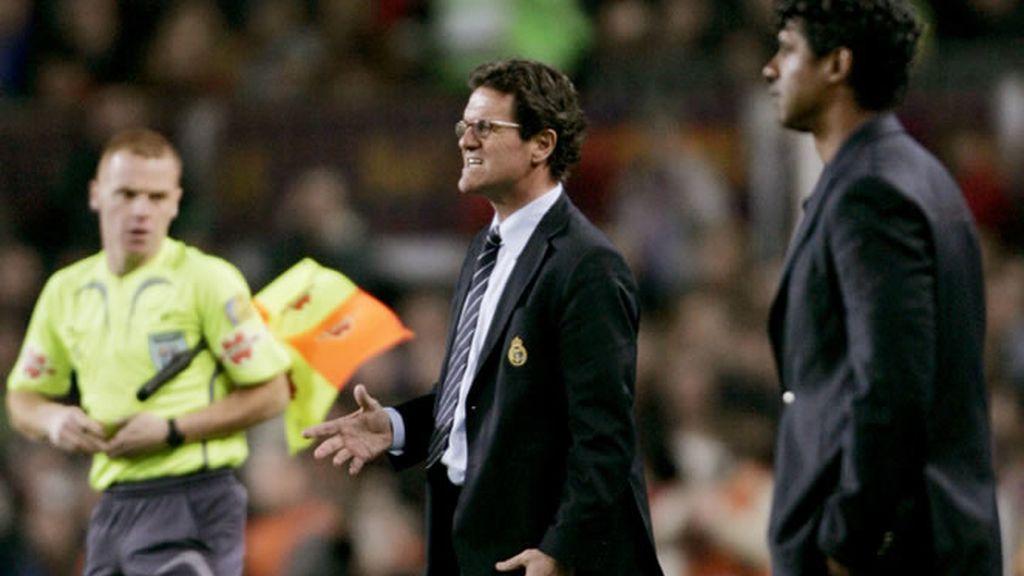 Capello celebra el gol de Van Nistelrooy's