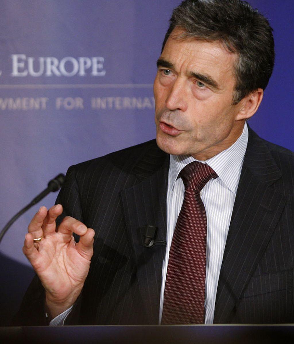 El secretario general de la OTAN Anders Fogh Rasmussen