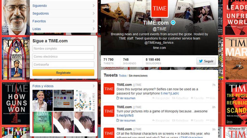 'Hackeada' la cuenta de Twitter de la revista 'Time'