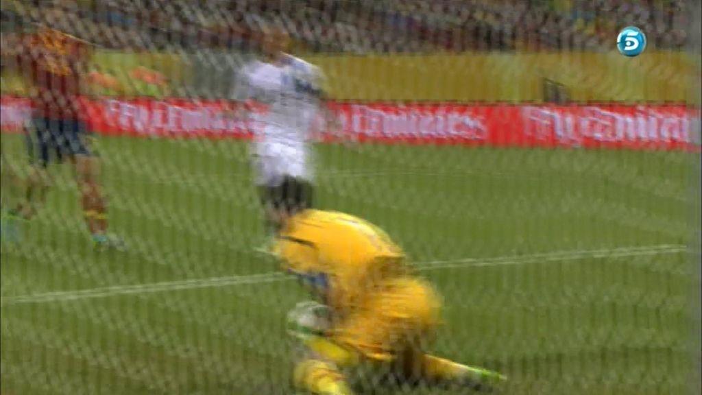 Casillas no tuvo mucho trabajo durante la primera parte.