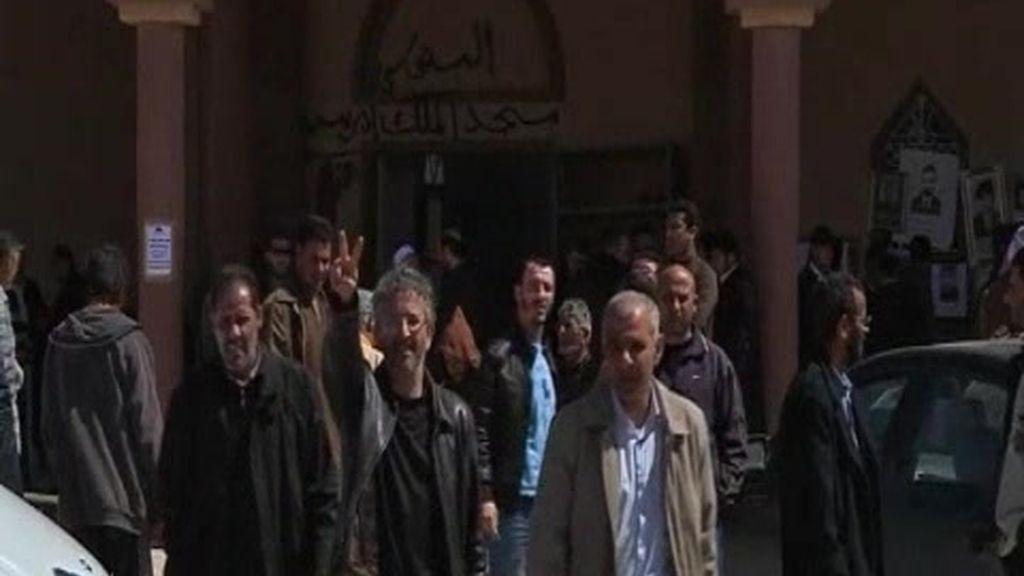 Las tropas de Gadafi avanzan