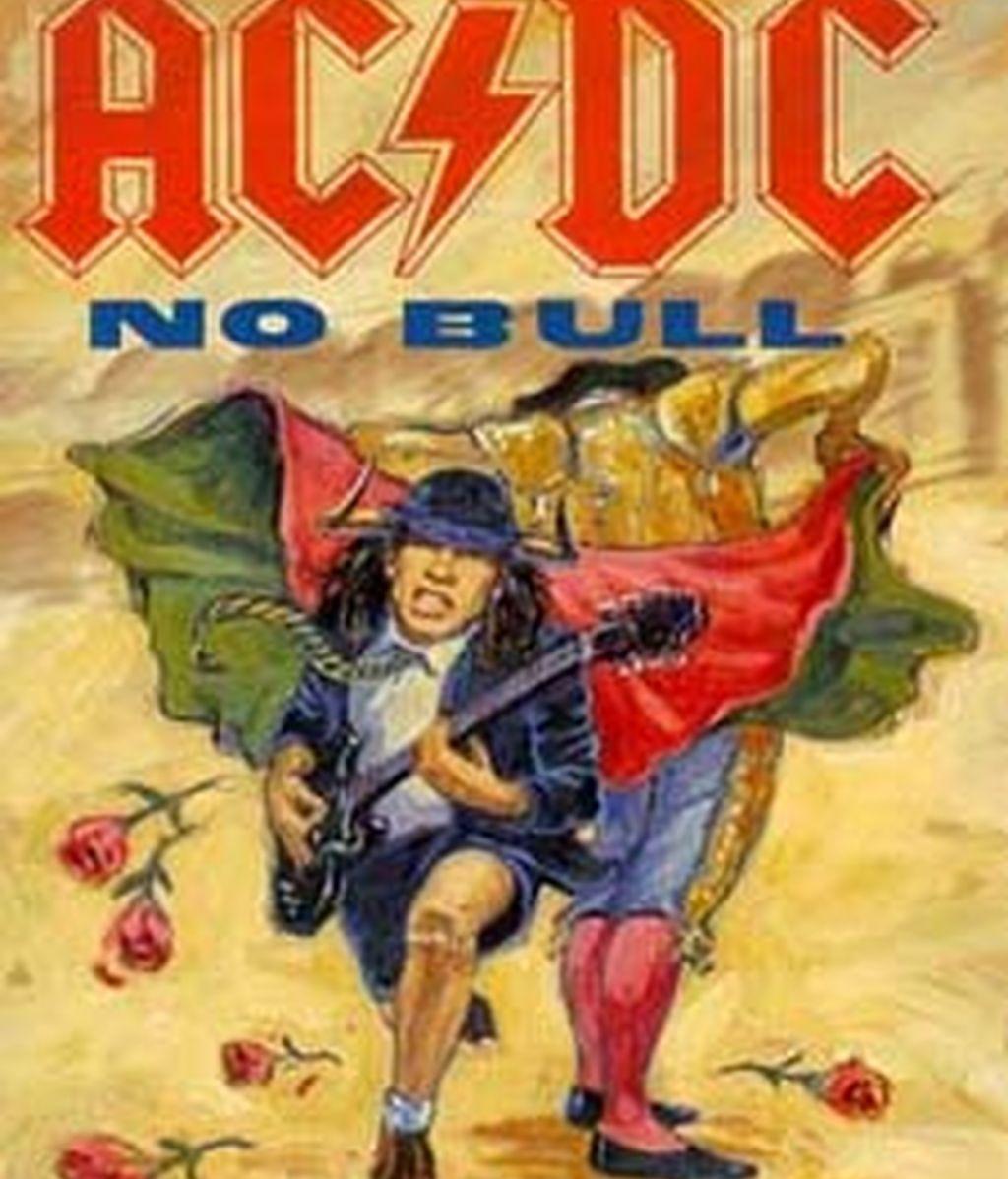 El cartel del concierto de AC/DC en 1996 en Las Ventas. Foto: Archivo