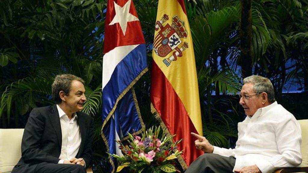 Zapatero se reúne con Raúl Castro