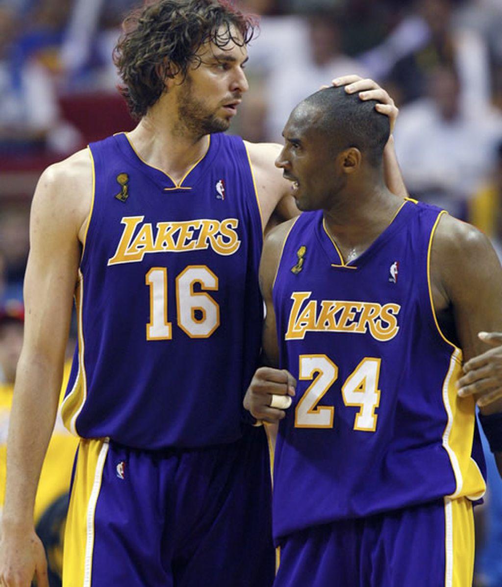 Gasol y Kobe Bryant