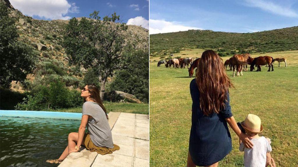 Sara Carbonero y familia han estado en Navalacruz (Ávila), el pueblo de Iker