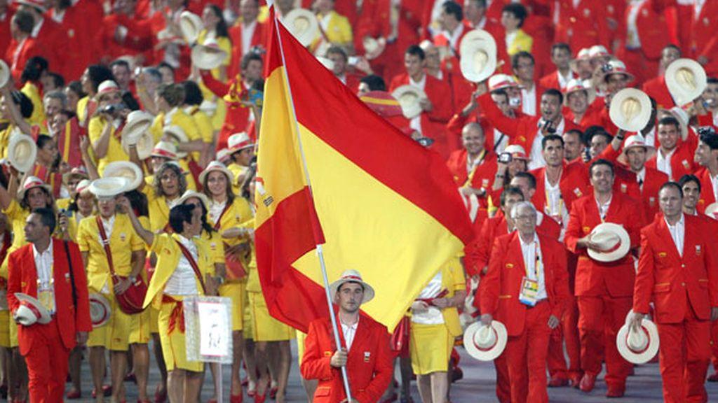 La alegría de los deportistas españoles