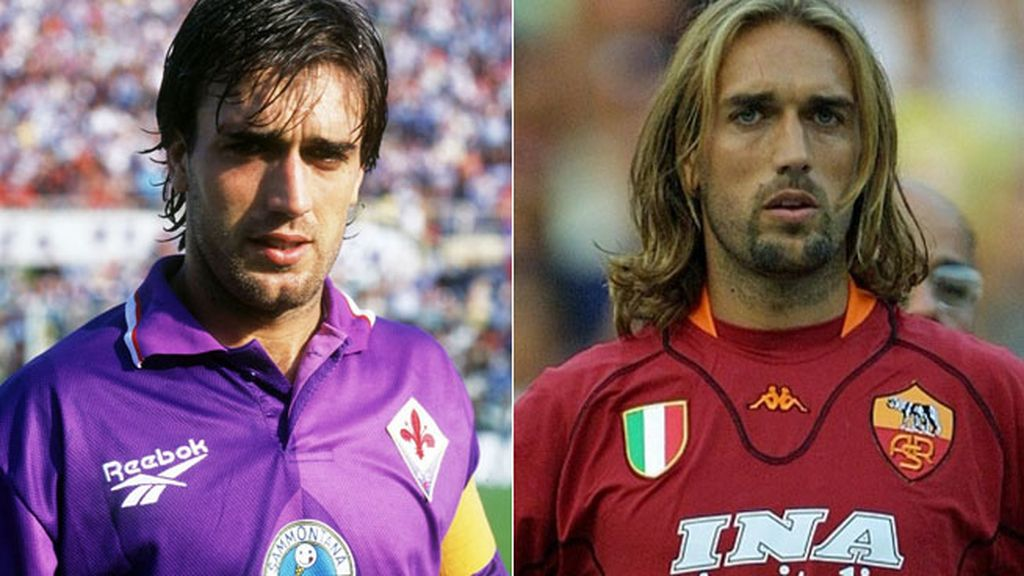 Batistuta, haciendo goles en la Fiorentina... y en la Roma