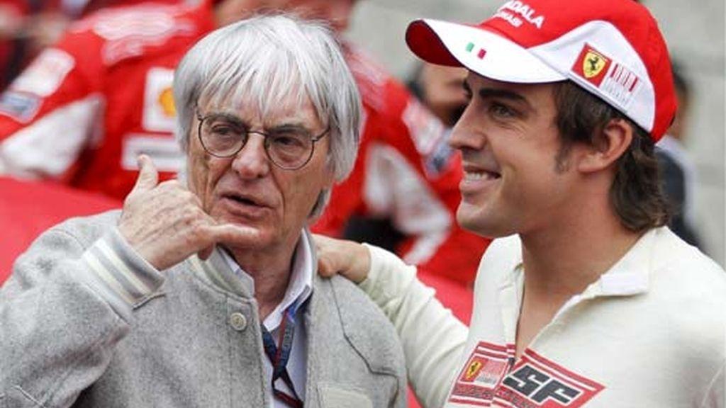 Alonso, con Ecclestone