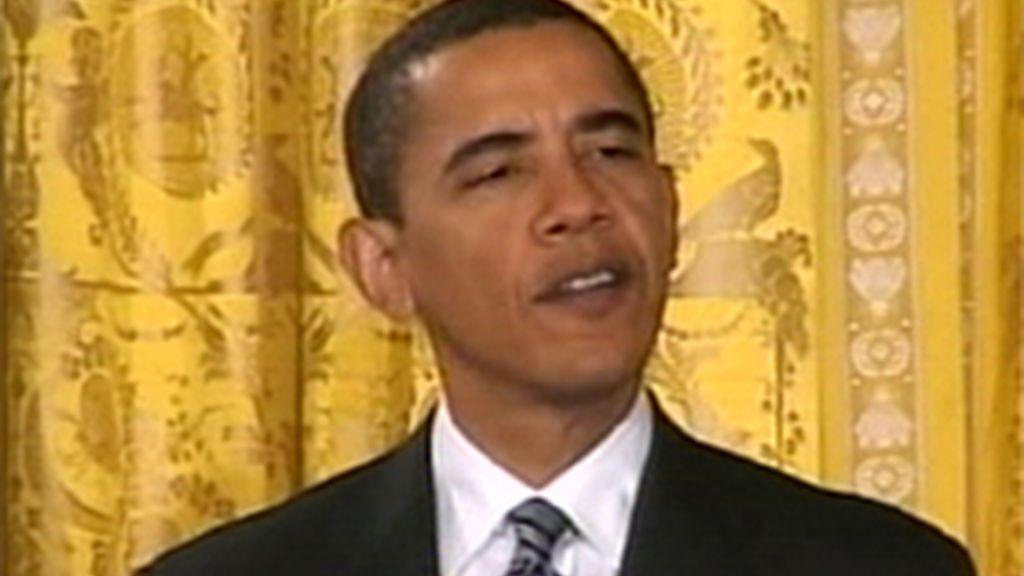 Barack Obama durante una comparecencia ante los medios
