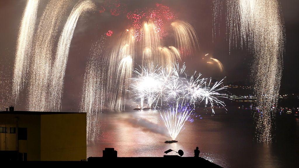 Fuegos artificiales en Valparaíso para recibir al 2016
