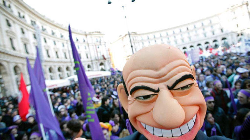 Manifestación contra Berlusconi