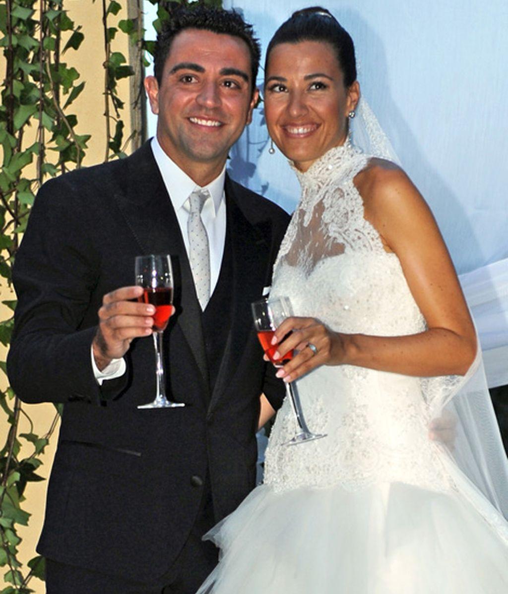 Los novios: Xavi Hernández y Nuria Cunillera