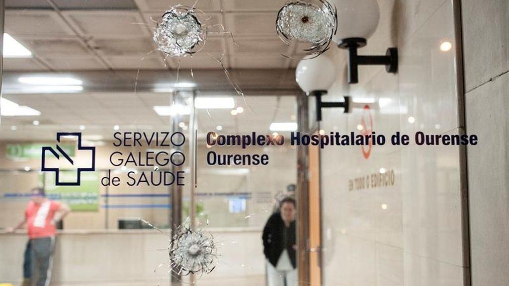 Dos heridos en un tiroteo en el hospital de Orense