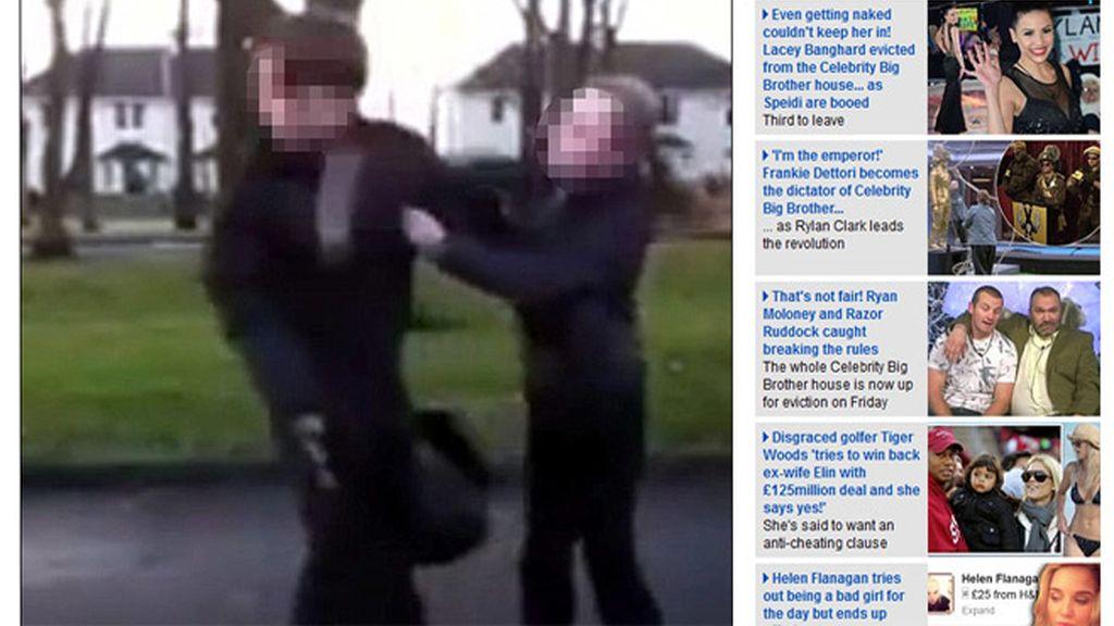 Golpea a un adolescente. Foto: DailyMail