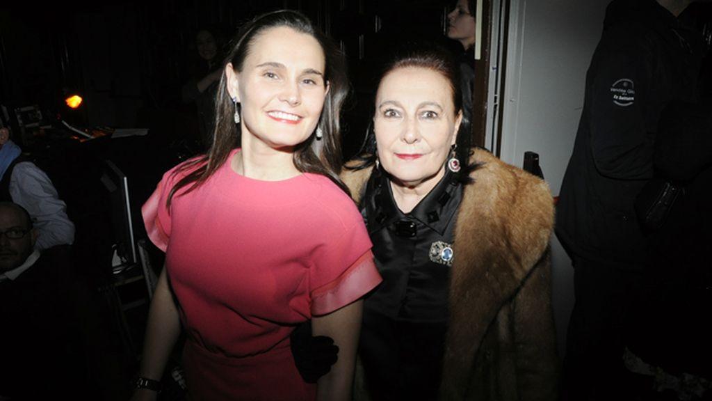 """Alessia Putin y su madre en el estreno de """"Antipasti"""""""