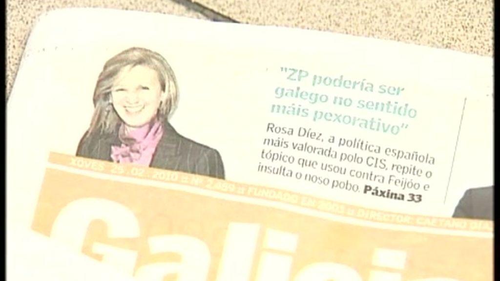 Los gallegos, 'encantados' con Rosa Díez