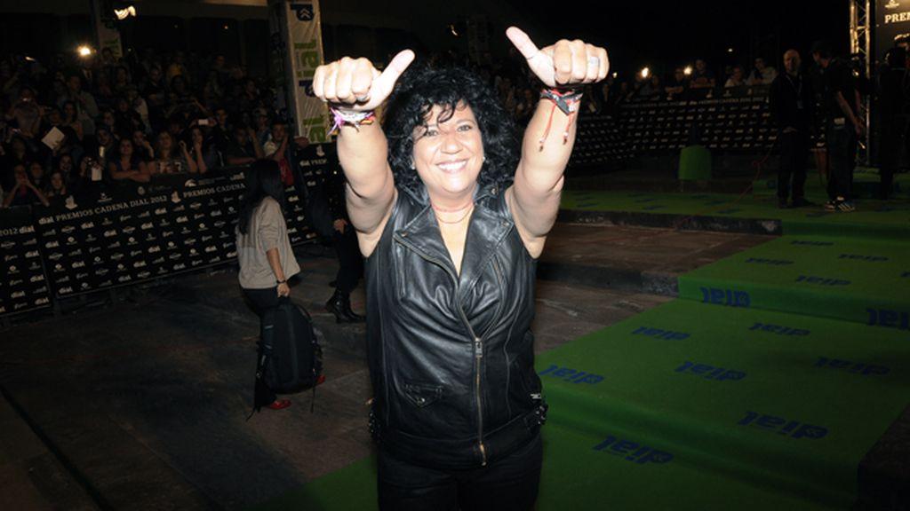 La cantante Rosana estaba encantada de vivir esta espectacular gala en su tierra