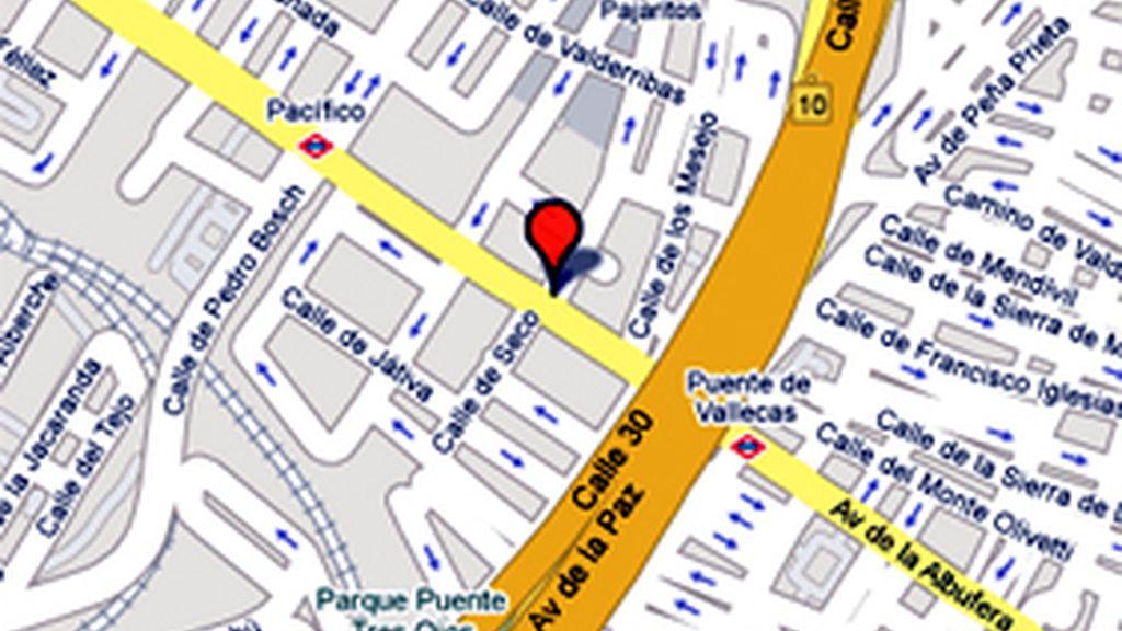 Localización de la calle Luis Mitjans