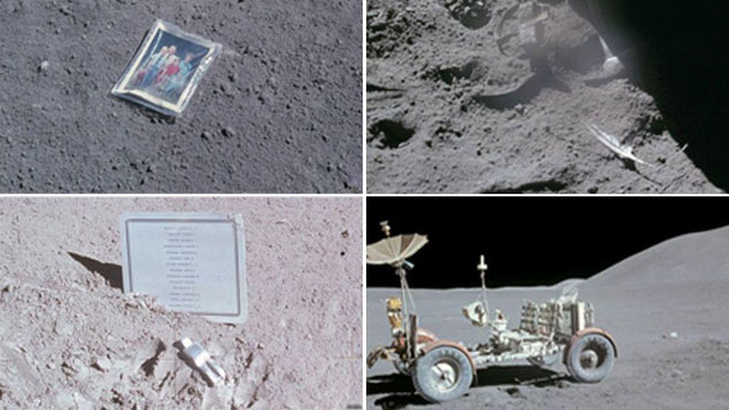 Objetos abandonados en la Luna