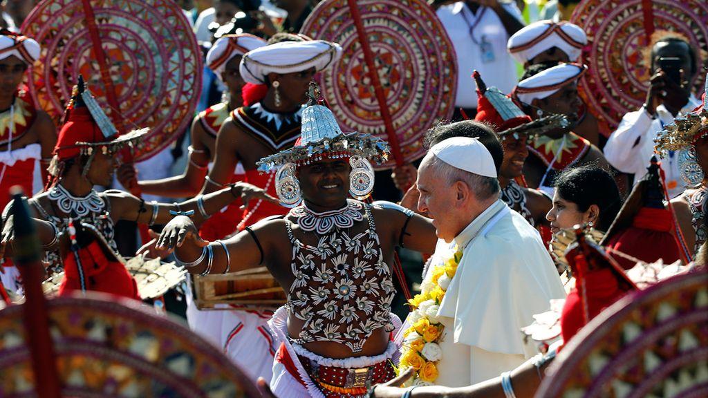El Papa Francisco en Sri Lanka