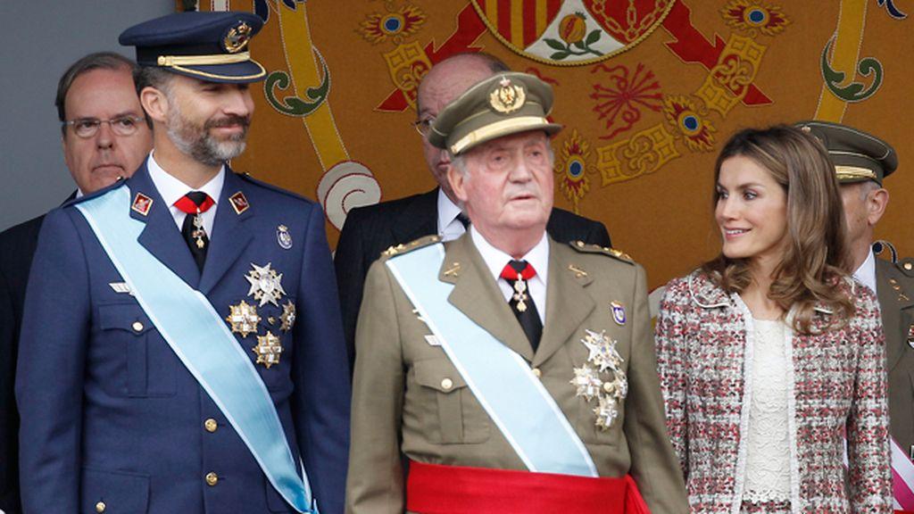 Las miradas cómplices del Príncipe y Letizia