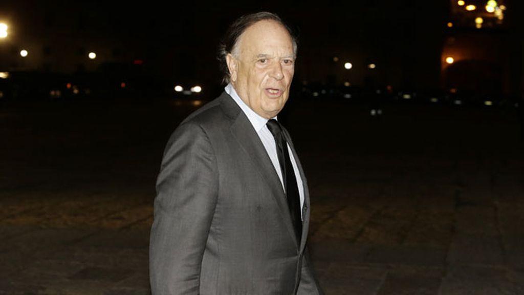 El Marqués de Griñón, Carlos Falcó, a su llegada al funeral