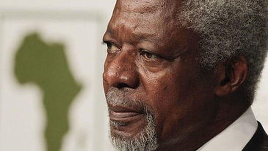 El enviado especial de la ONU y la Liga Árabe para Siria, Kofi Annan