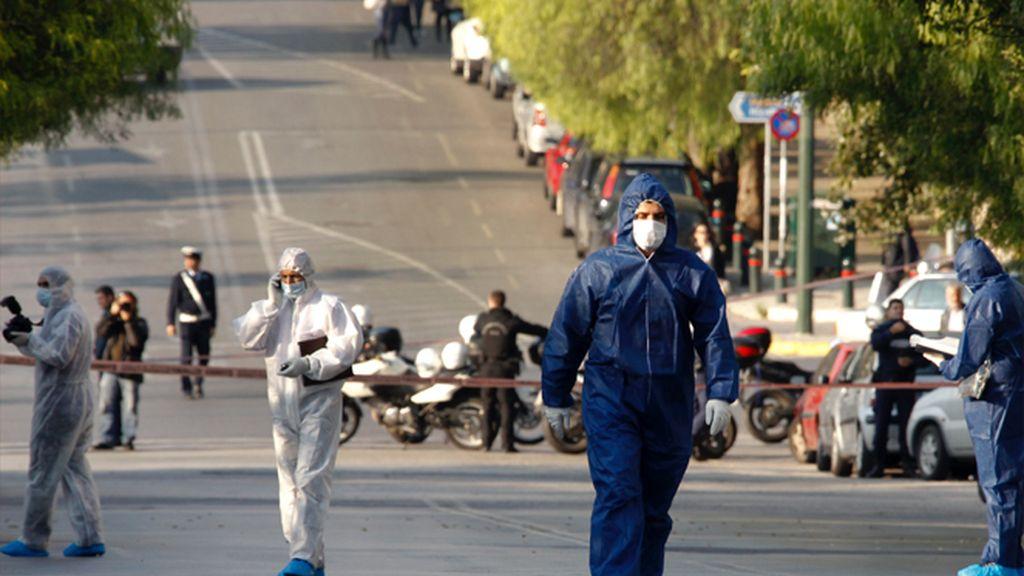 Desactivada una bomba en Atenas