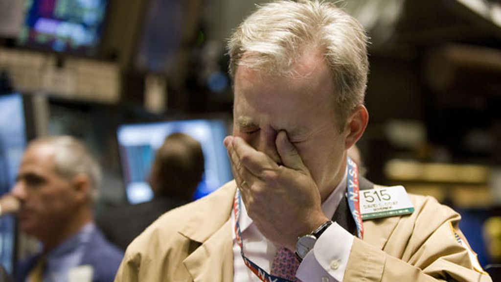Desplome y desesperación en Wall Street