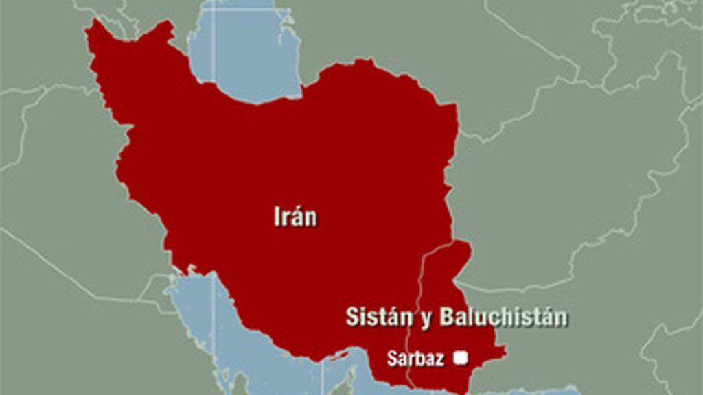 Mapa de Irán donde ha ocurrido el atentado