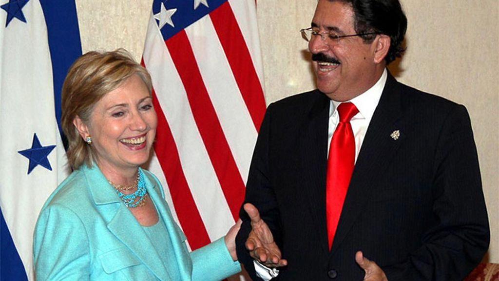 Clinton y Zelaya