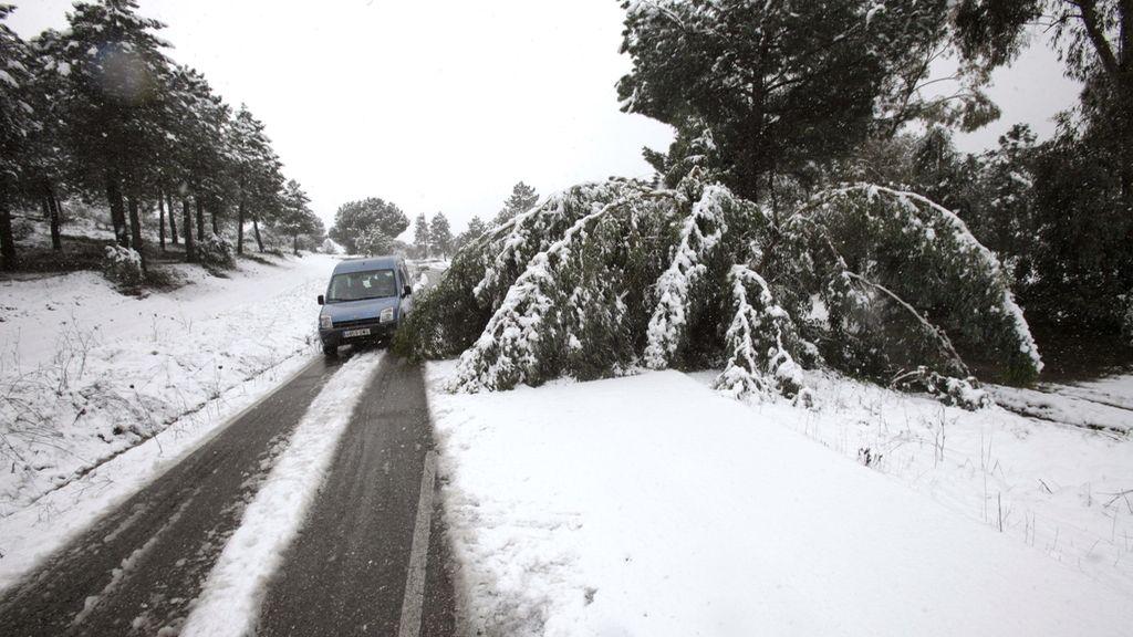 La nieve cubre las carreteras andaluzas