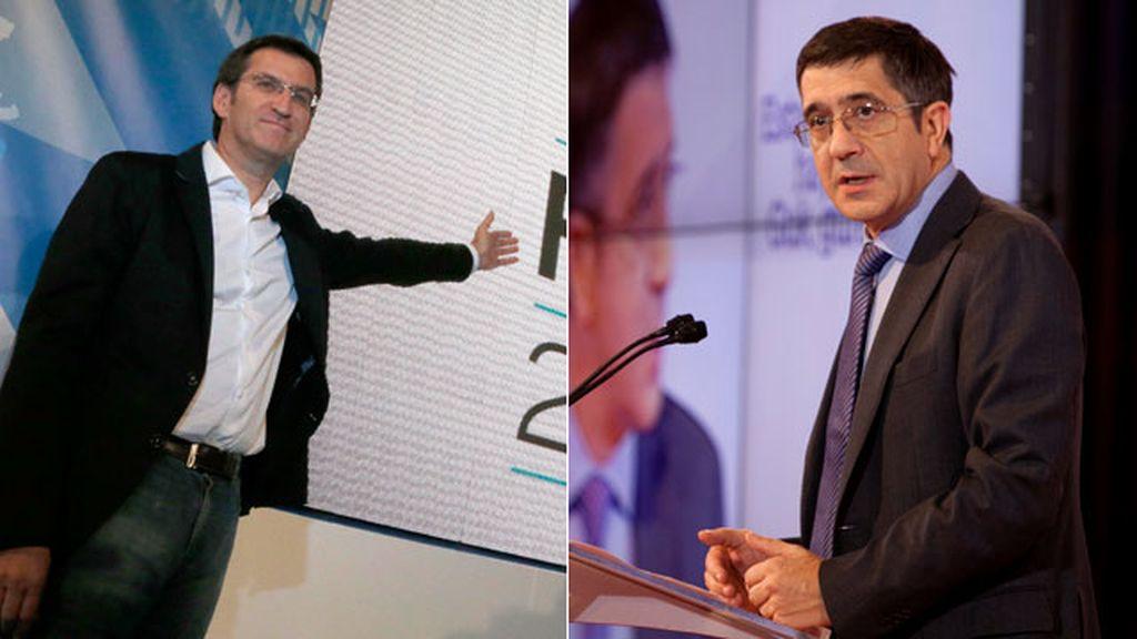 Alberto Núñez Feijóo y Patxi López