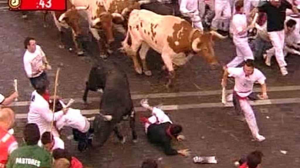 Sexto toro solitario a su paso por el Ayuntamiento