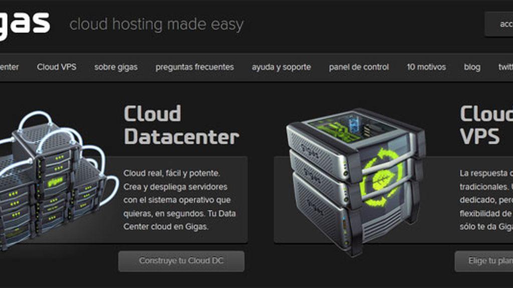 Gigas, servicio en la nube, cloud, servidores virtuales