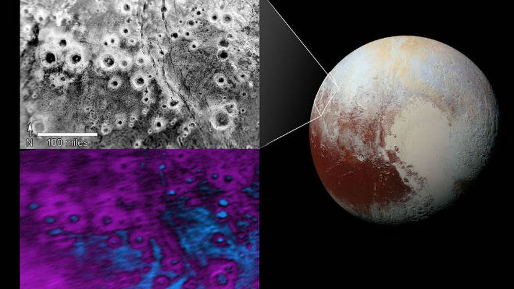 Plutón halos brillantes