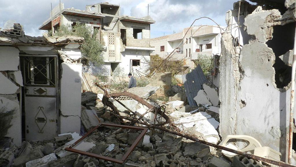 Un edificio en ruinas por los ataques en Siria
