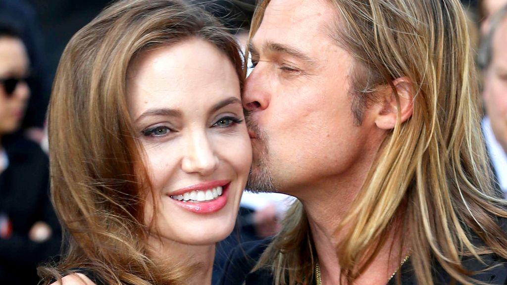 El tierno besito de Brad Pitt a su Angelina