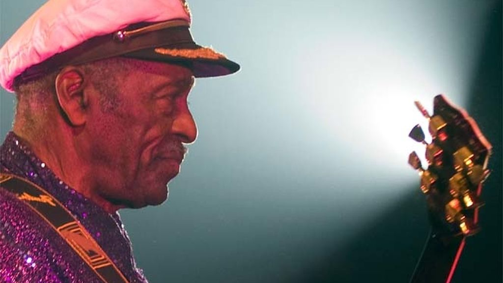 Chuck Berry en una actuación