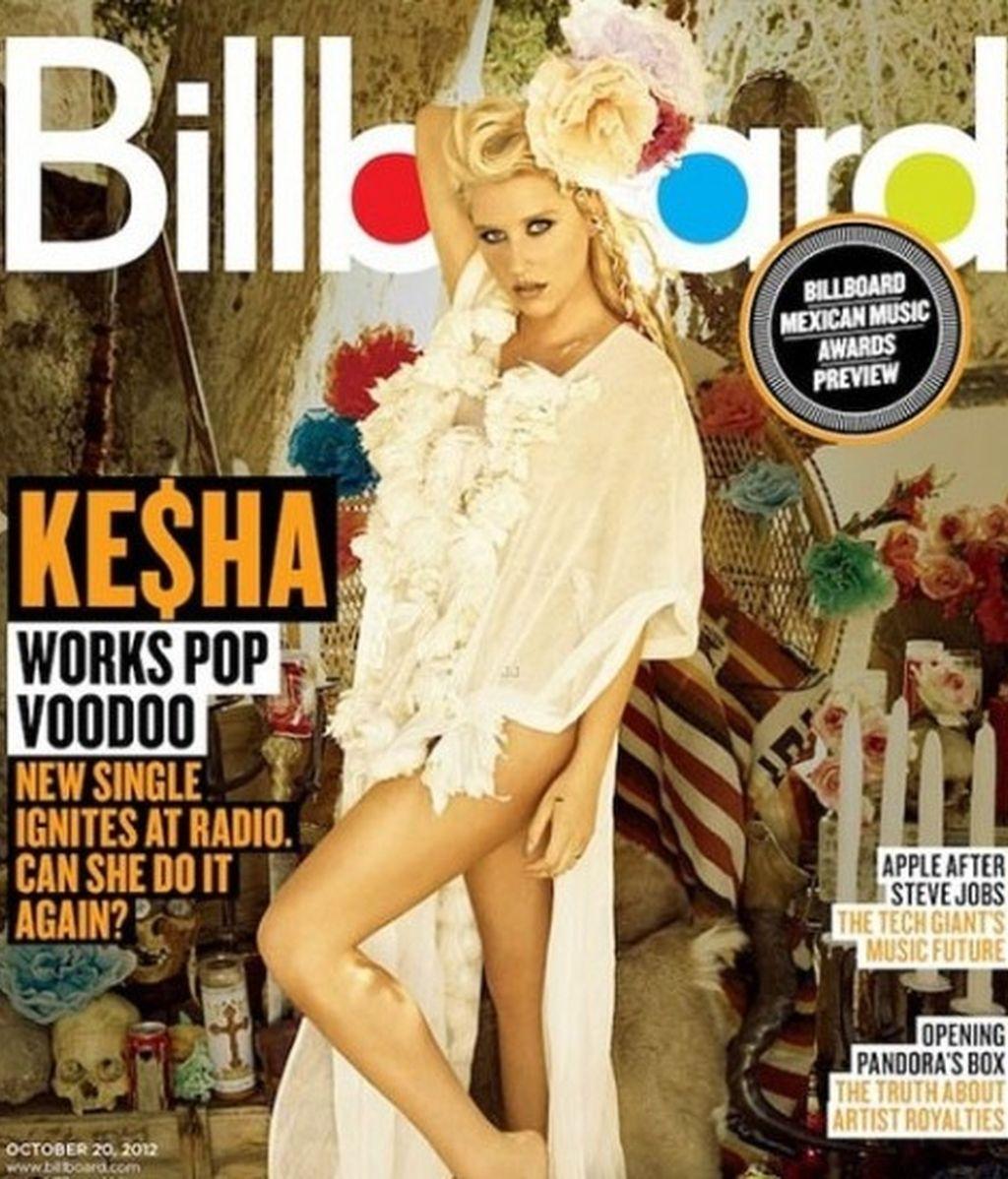"Ke$ha, muy sensual en la portada de ""Billboard"""
